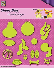 Nellie's Choice Shape Dies - Doggy Set - SDL047