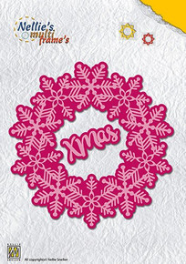Nellie's Multi Frame Dies - Christmas Snowflake Wreath - MFD108
