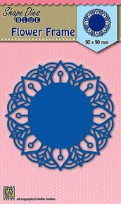Nellie's Shape Dies Blue- Round Lace Flower Frame - Cutting Die SDB025