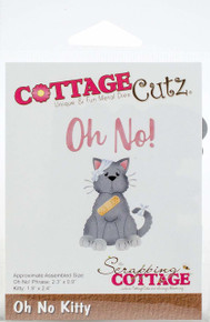 Cottagecutz Die-Oh No Kitty .9' To 2.4'