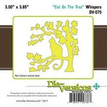 Die-Versions Cat On the Tree Cutting Die DV-675