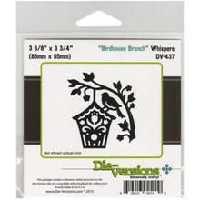 Die-Versions Whispers Die-Birdhouse Branch, 3.375'X3.75'