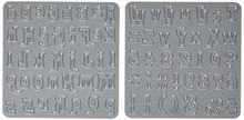 Die-Versions Font Die, 0.5-Inch and 0.375-Inch, Tide Pool