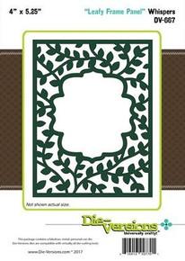 Die-Versions Whispers Leafy Frame Panel DV-667 Cutting Die