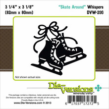 Die-Versions Whispers Die, 3.25-Inch by 3.125-Inch, Skate Around