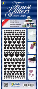 JeJe Double-SIded Adhesive Stickers Hearts Sheet 4-0344