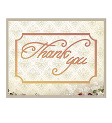 Couture Creations Thank You Label Die Set for Scrapbooking (CO724523)