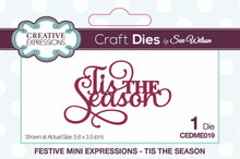 Sue Wilson Craft Dies CEDME019 Mini Expressions - Tis The Season