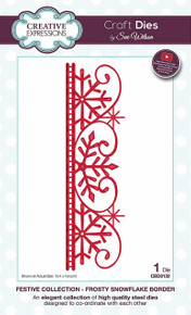 Sue WIlson Festive Collection Frosty Snowflake Border