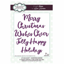 Creative Expressions Lisa Horton Craft Die CEDLH1001 Stylish Collection - Christmas Wishes