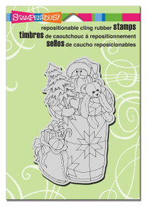 Stampendous Cling Quilted Santa Rubber Stamp