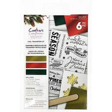 Crafter's Companion Foil Transfer Kit Contemporary Holiday Sentiments CC-FOILKIT-TRADS