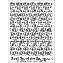 Small Snowflake Background - Cling Rubber Stamp
