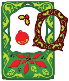 Spellbinders Frameabilities Dies, Poinsettia