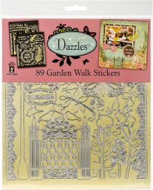 HOTP Dazzles Stickers 8'X9' 2/Pkg-Garden Walk-Pearl Gold