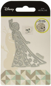 Disney Elsa - Metal Die Set with Face Clear Stamp - Frozen