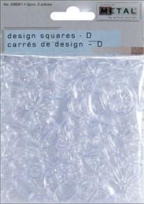 Walnut Hollow Creative Metal Design Squares 4'x4' 3 Sheets-Hearts & Swirls