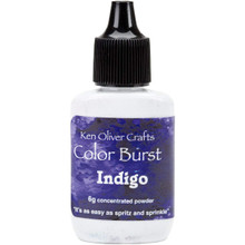 Color Burst Concentrated Indigo Microfine Pigment Powder - Indigo