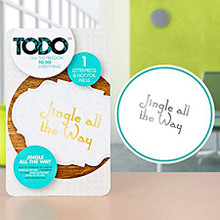 TODO Jingle All The Way Letterpress & Hot Foil Press 140475