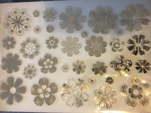 Hunkydory Luxury Foiled and Die-Cut Flowers GOLD on Acetate Two A4 Sheets