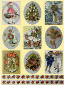 Dufex Victorian Christmas Self Adhesive Stickers