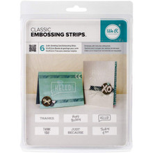 We R Memories 6 Piece Embossing Strips Phrases, 6 x 2, Classic
