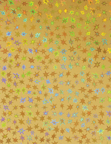 Stars Holographic Gold 4 sheets 8.5x11 Cardstock STUNNING!