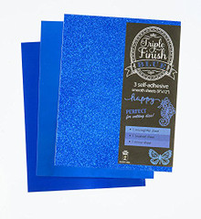 HOTP Triple Finish BLUE- 3 Self-Adhesive Sheets 4444