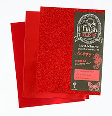 HOTP Triple Finish RED- 3 Self-Adhesive Sheets 4442