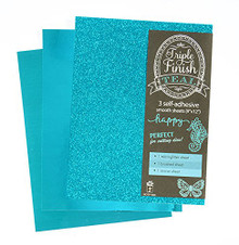 HOTP Triple Finish Teal- 3 Self-Adhesive Sheets 4446