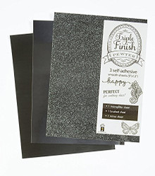 HOTP Triple Finish Pewter- 3 Self-Adhesive Sheets 4445