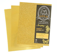 HOTP Triple Finish Gold- 3 Self-Adhesive Sheets 4440