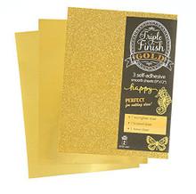 HOTP Triple Finish Gold- 3 Self-Adhesive Sheets 4440