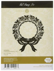 Artdeco Creations CO725576 Couture Creations Anna Griffin Hotfoil Stamp Christmas Wreath, Multi