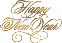 Artdeco Creations  Happy New Year Couture Anna Griffin HotFoil Stamp,  CO725569