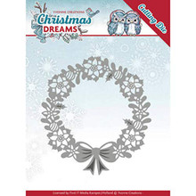 Yvonne Creations Christmas Dreams Poinsettia Wreath Die Set
