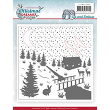 Yvonne Creations Christmas Dreams Embossing Folder