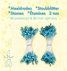 Leanne Creatief Light Blue Pearl Stamen. 80 Pearl and 80 matt Stamens