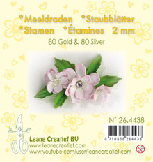 Leanne Creatief Gold & Silver Pearl Stamen. 4o pearl Stamen in each Color