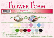 Leane Creatief Flower Foam Set -10 A4 Sheets- Bright Red