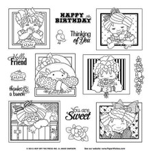 Hot Off The Press - Janie's Girl Frames Clear Stamp Set