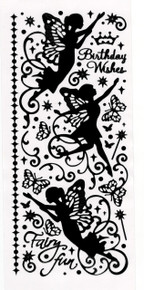 Hot Off The Press Dazzles Stickers -Fairies Black GLOSSY