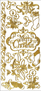 Hot Off The Press Dazzles Stickers -Merry Christmas-Gold