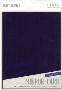 Tonic Studios Mirror Glossy Cardstock Electric Purple 8.5X11