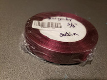 "25 yd Satin Ribbon 5/8"" Burgundy 25-yards RN0004-80"
