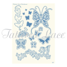 Parchment Lace Beautiful Butterflies Parchement Grid
