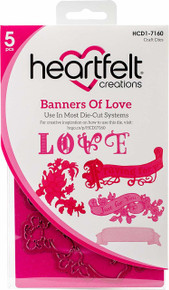 Heartfelt Creations Cut & Emboss Dies Heartfelt Love ~ Banners Of Love, HCD1 7160