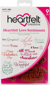 Heartfelt Creations Cling Rubber Stamp Set ~ Heartfelt Love Sentiments, HCPC3804