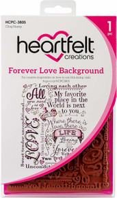 Heartfelt Creations Cling Rubber Stamp Set ~ Forever Love Background, HCPC3805