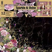 HOTP Sparkle & Shine Double-Sided Paper Pack 12x12 12-Coordinating Papers